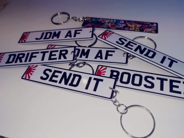 number plate keyrings